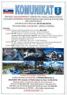 KOMUNIKAT - ZAKOPANE - SŁOWACJA 13-16.09.2018.doc
